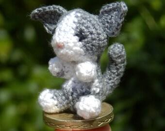Micro Crocheted Cat