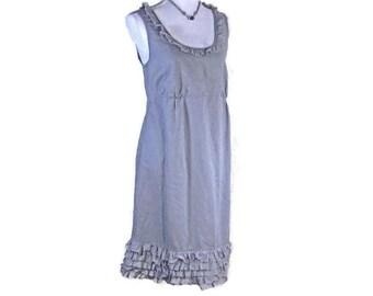 20% OFF SUMMER DRESS! Vintage Style Dress. Summer dress, Pull on cotton dress, knee length dress, womens dress, Retro sleeveless dress,