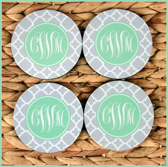Personalized Coasters Custom Coasters Monogram Coasters Drink