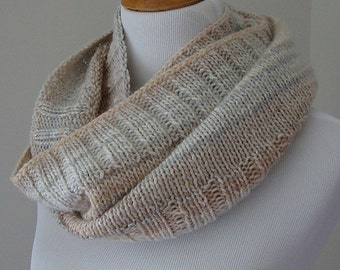 PATTERN - Ribbed Infinity Scarf