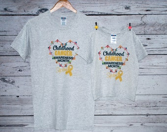 Childhood Cancer Awareness Gift Set T-Shirts