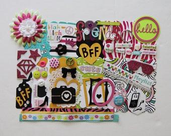Tween Teen Girl Friend Friendship BFF Custom Chipboard Mini Book Album Kit (Scrapbook)