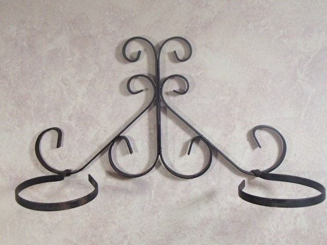 Wrought Iron Wall Mount Plant Pot Holder Garden Home Rustic