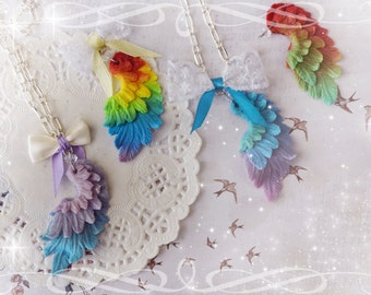 Gradient Wing Necklace -choose your own color-