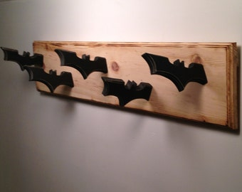 Batman Inspired Coat Rack- Walled Mounted Dark Knight Themed Coat Hanger