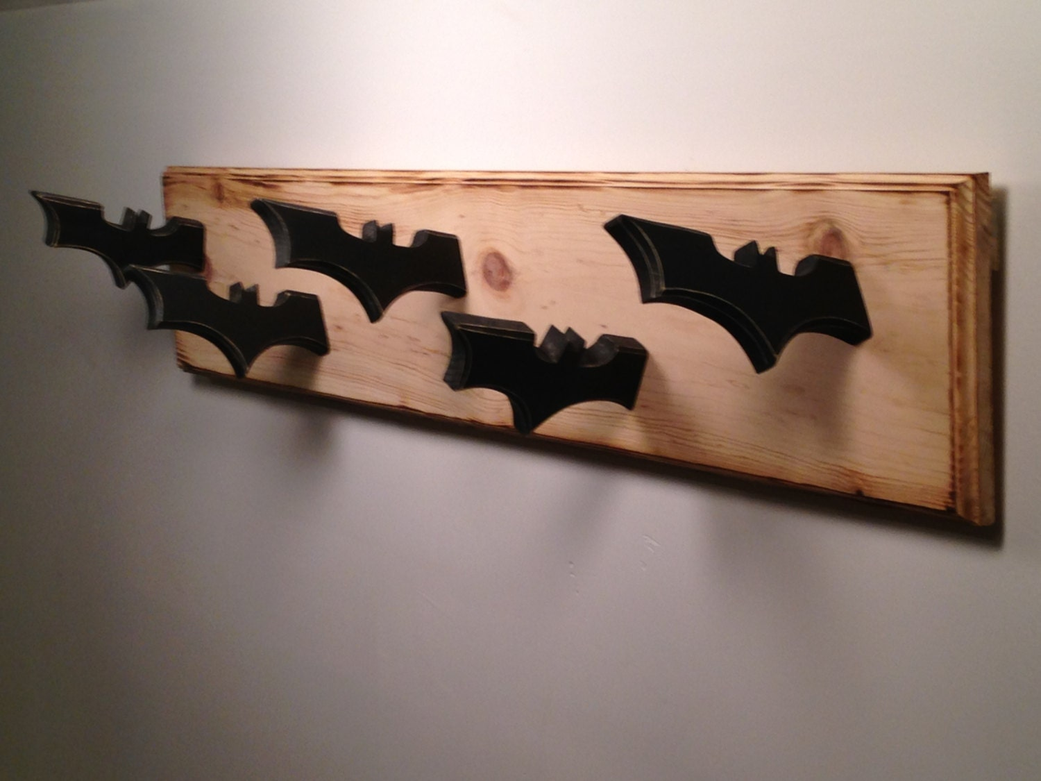 Ideas For Hanging Backpacks Batman Inspired Coat Rack Walled Mounted Dark Knight Themed