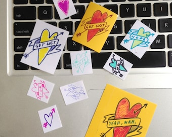 """Sticker pack """"loveless"""" ~ hearts and arrows"""
