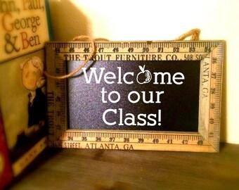 Chalkboard Classroom Sign