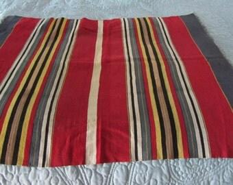 vintage woven runner, bright stripes, circa 1920