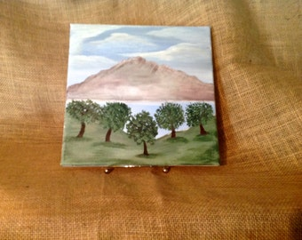 "Original 10 x 10 Acrylic Painting - ""Orchard"""