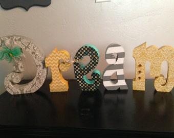 Custom wood letters. Home decor letters. Wedding decor.