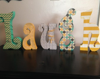 Custom wood letters. Home decor letters.