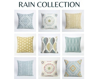 Rain Collection 20 inch pillow cover // 20 x 20 pillow cover // pillow covers 20 x 20-1EYN