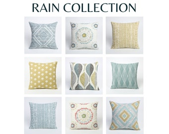 Blue Lumbar Pillow // Lumbar Pillow Blue // Rain Collection 11 Sizes-1EYN