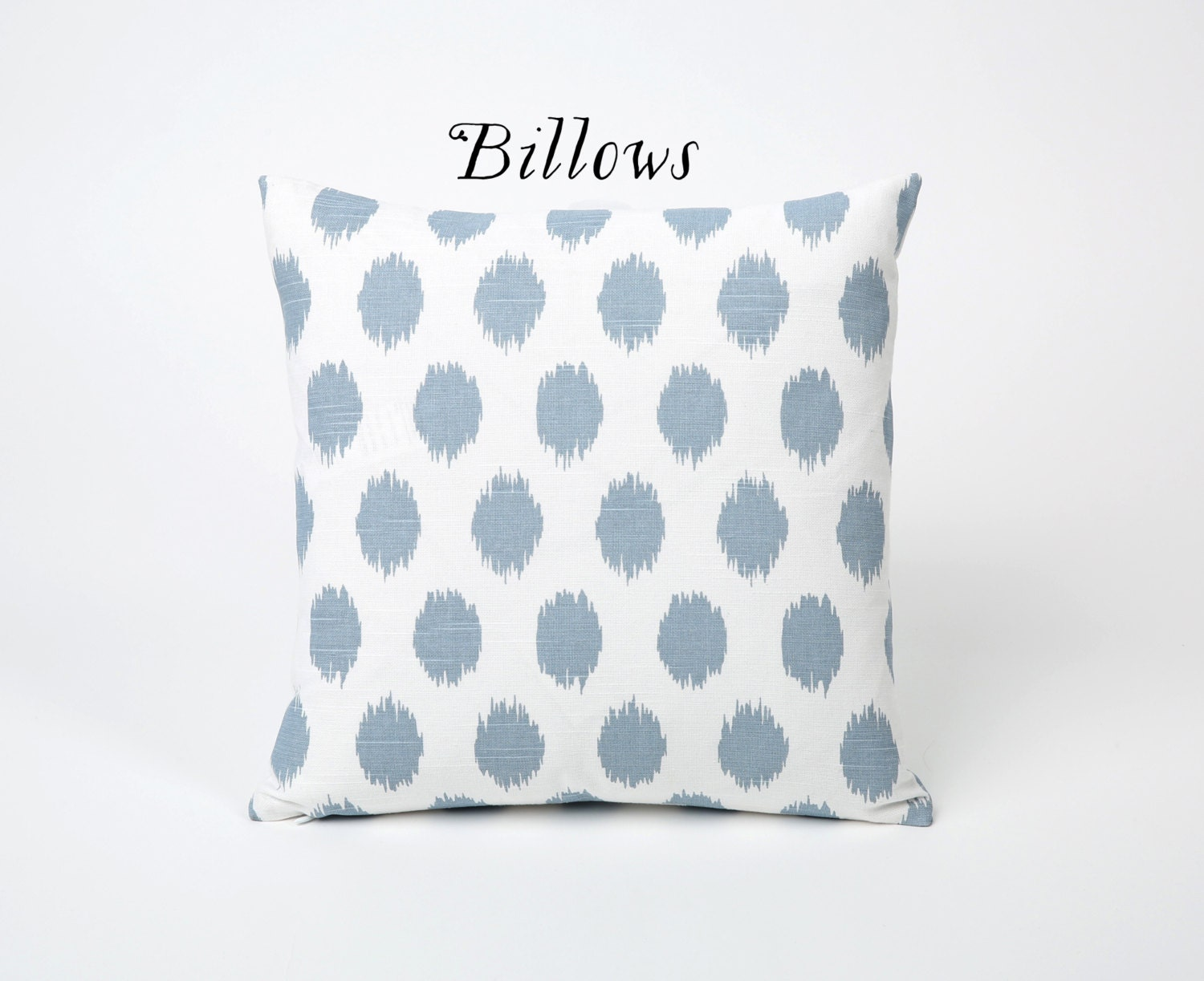Light Blue Throw Pillow Covers : Light Blue Painterly Throw Pillow Cover 12x18 20x20 by Pillomatic