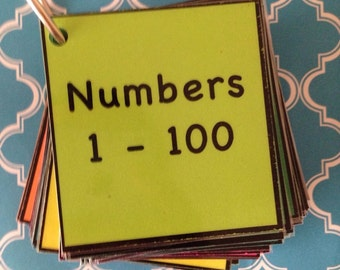 Numbers 1-100 math teacher made resource flash cards