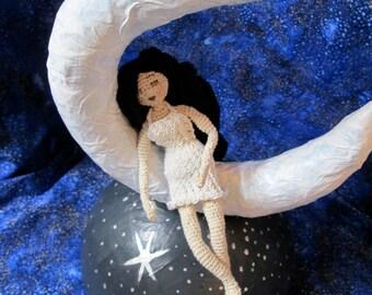 CROCHET PATTERN: Dreaming Girl Doll