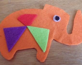 Orange Elephant Magnet