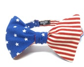 American Flag ('Merica) Bow Tie - bowtie, bowties, bow ties, fun, cool, America, President, summer, fourth of july, 4th of July, mens, boys