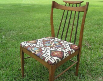 Vintage Chair, mid century modern,atomic,Antique Wood Chair, Furniture,mid century chair,Drexel,Aztec,Wood Chair, Dinning Chair, Side Chair