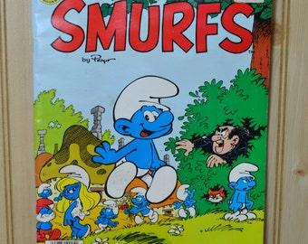 Vintage Giant Smurf Comic Book  1982  Peyo Marvel Books Smurfette Gargamel Azrael Smurfs