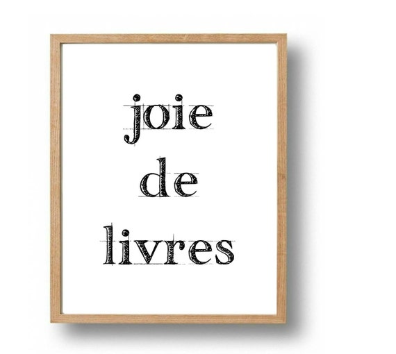 French Quote Print Bookshelf Art Book Lover By Sapphoandthemoon
