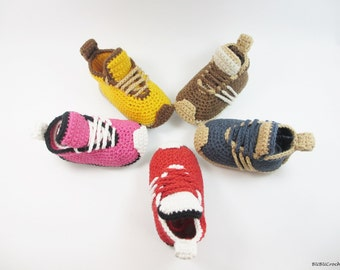 Crochet Baby Shoes, Crochet Baby Booties, Baby Shoes, Crochet Baby Sneakers, Baby Boy Shoes, baby girl shoes,  Baby shower gift