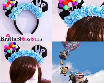 UP Mouse Ears, Minnie Mouse Ears, Disneyland, Disney World, Mickey Mouse Ears, UP Mickey Ears