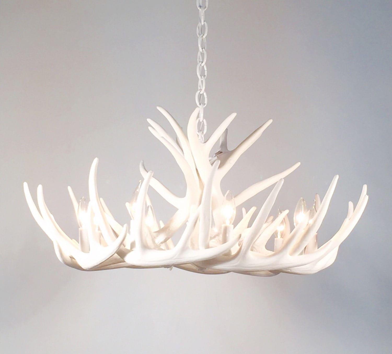 white antler chandelier canada