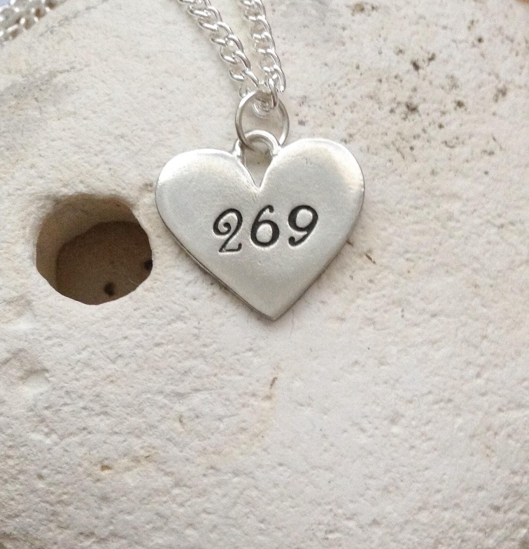 269: 269 Vegan Heart Necklace 269 Life Vegan Jewellery Jewelry