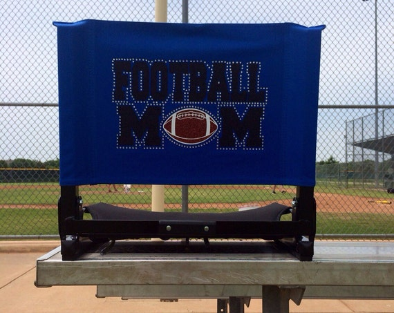 items similar to custom sports mom stadium seats with glitter and
