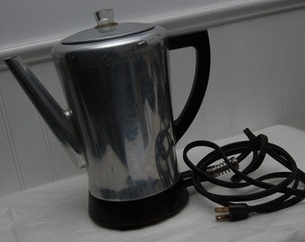 Electric Coffee Pot Vintage Percolating West Bend Flavo-matic Norwegian/Scandinavian Coffee Maker