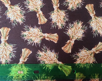 Autumn harvest fabric - thanksgiving fabric - haystack fabric - hay fabric - fall fabric by the yard - #1565
