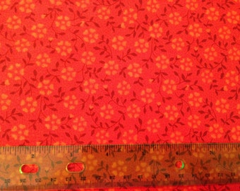 Autumn harvest fabric - thanksgiving fabric - fall fabric - floral fabric - flower fabric - orange fabric - fall fabric by the yard - #1572