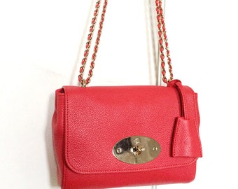 Authentic Mulberry Small Lily pinky red