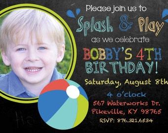 Splash & Play Party Invitation