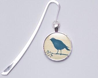 Bird Bookmark, gift for book lovers, metal bookmark - Bird Glass Bookmark (BB1)
