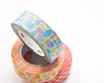 Washi Tape Blue - Watercolour Dot Masking Tape - Planner Washi Tape in Melbourne, Australia