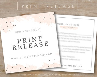 Photography Print Release Template - Photography Form Template - Photoshop Template
