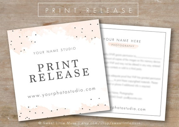 Photography Print Release Template Photography Form Template