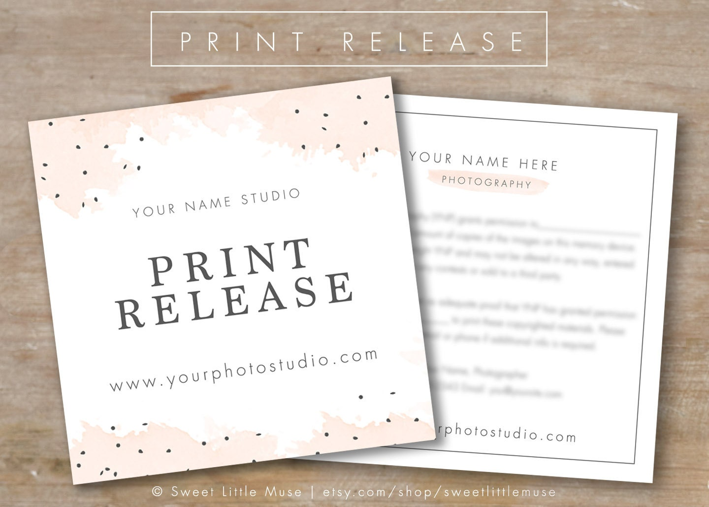 Photography print release template photography form template for Free photography print release form template