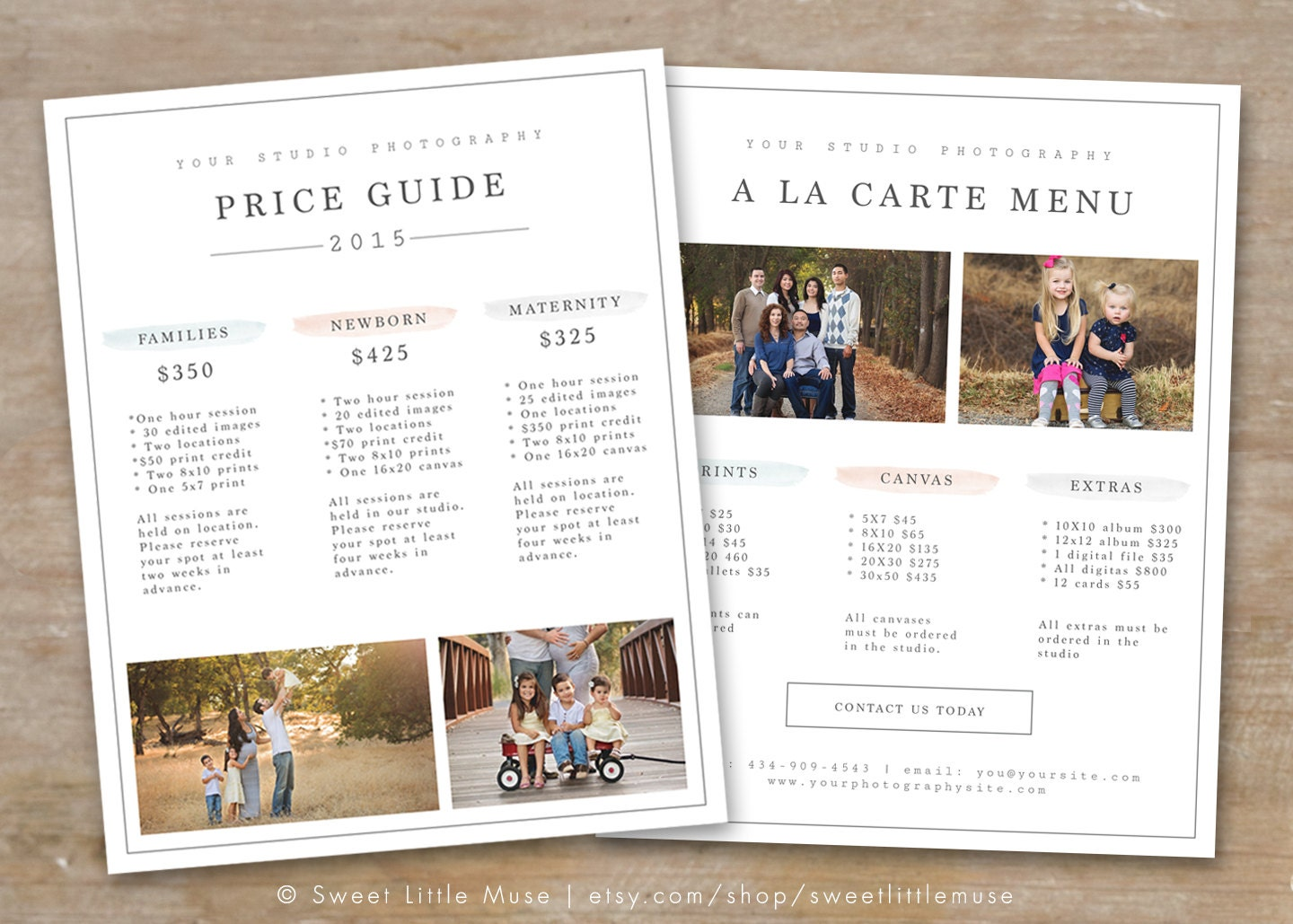 Photography Price List Template Photography Pricing Guide – Template for Price List