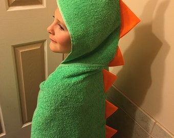 Dinosaur Hooded Towel and Bath Mitt