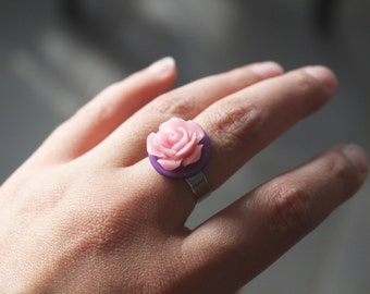 Pink and Purple Rose Ring