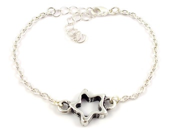 Silver plated star bracelet - mix and match armcandy