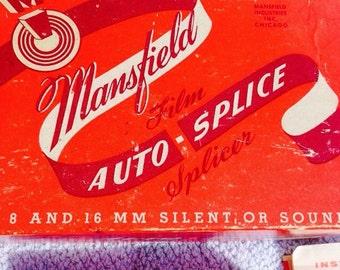 Vintage Mansfield movie splicer 8 and 16 mm