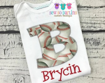 Personalized baby boy Baseball outfit -  Boy Baseball Shirt - baby boy clothes - Toddler Boy Sports Shirt - Baby Boy personalized shirt