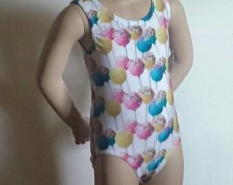 Lollipop Leotard, Girls Sizes 2 to 5 - Lollipop Leotard - Gymnastics and Dance Leotard