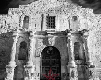 """The Alamo (12"""" x 18"""" Black & White Matte Print)"""
