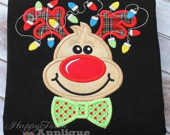 Reindeer Boy Machine Embroidery Applique Design